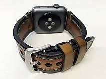 Náramky - Kožený remienok pre apple hodinky, Apple watch remienok 42mm - 7543696_