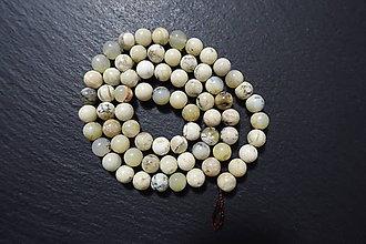 Minerály - Opál africký biely 6mm - 7542378_