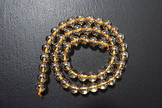 Minerály - Krištál s perleťou svetlejší 8mm - 7542884_