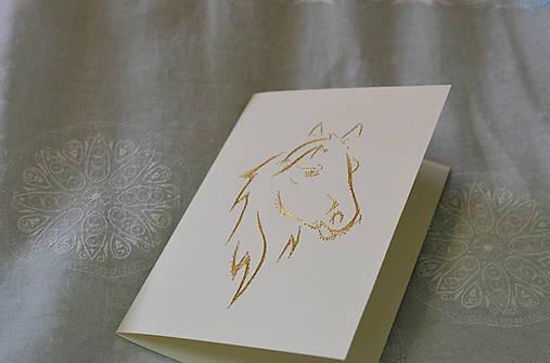 Vyšívaná pohľadnica - kôň