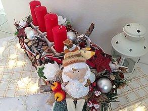 Svietidlá a sviečky - Adventný svietnik s dievcatkom-48cm-zlava - 7543356_
