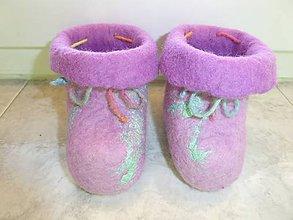 Topánočky - Vlnené papučky pre batoľa - 7545525_