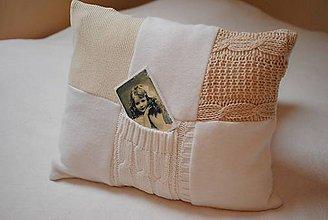Úžitkový textil - Svetríkové vankúše veľké - 7542896_