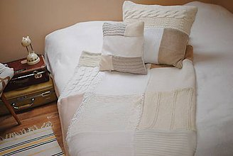 Úžitkový textil - Provensálska deka a tri vankúše - 7542934_