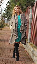 Šaty - Tyrkysové šaty s řasením - 7548581_