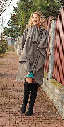 Kabáty - Asymetrický kabát - 7548482_