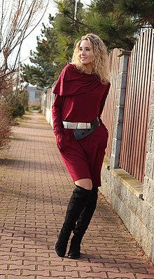 Šaty - Vínové šaty - 7549175_