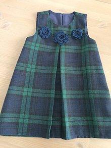 Detské oblečenie - Kárované retro šaty V -98 - 7548075_