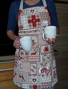 Iné oblečenie - Zástera Vianočný patchwork - 7549660_