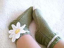 Obuv - Ponožky s margarétkou - 7547889_