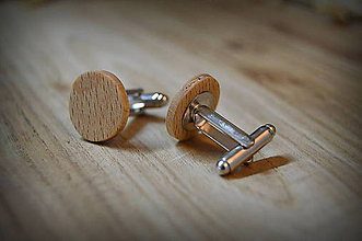 Šperky - Drevené manžetové gombíky - 7548713_