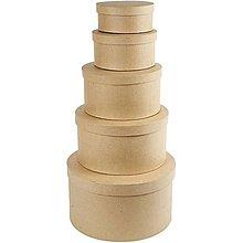 Polotovary - Papierová krabica Kruh 17x7 cm - 7547495_
