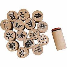 Pomôcky/Nástroje - Drevené pečiatky s vianočným motívom - 7550193_