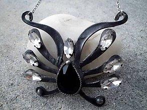 Náhrdelníky - cínový náhrdelník čierny - 7550174_