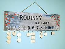 Dekorácie - rodinný kalendár VII - 7547467_