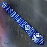 - Čičmianska veselica-maľovaná hodvábna folklórna kravata - 7547568_