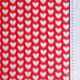 Textil - 100 % bavlna červené srdiečka, šírka 160 cm, cena za 0,5 m - 7549344_