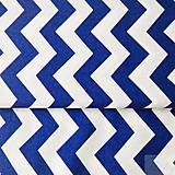 Textil - 100 % bavlna tmavomodrý cikcak, šírka 160 cm, cena za 0,5 m - 7549487_