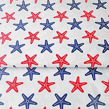 Textil - 100 % bavlna hviezdice, šírka 160 cm, cena za 0,5 m - 7549442_
