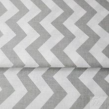 Textil - 100 % bavlnená látka sivý cikcak, šírka 160 cm, cena za 0,5 m - 7549501_