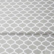 Textil - 100 % bavlna sivé maroko, šírka 160 cm, cena za 0,5 m - 7549542_