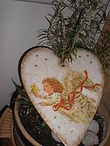 Dekorácie - Vianoce - Anjel so sviečkou - 7550535_
