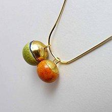 Náhrdelníky - Tana šperky - keramika/zlato - 7547438_