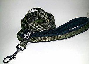 Pre zvieratká - Stopovacie vodítko khaki so softshellom (délka 5 m) - 7551077_