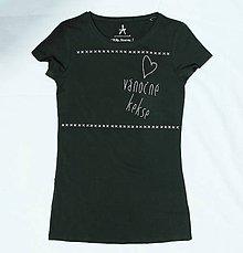 Tričká - Maľované tričko Vánočné kekse - 7550936_