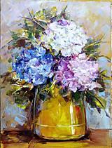 Obrazy - Tri farebné hortenzie - 7549192_