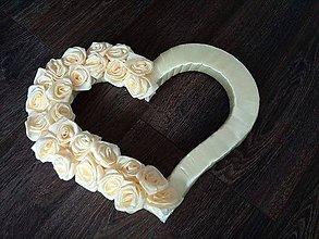 Dekorácie - svadobné srdce - 7551315_