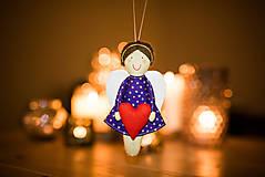 Bábiky - Vianočný anjelik - 7551070_