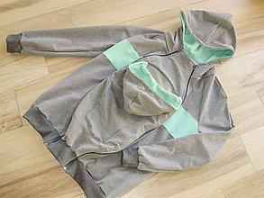 Oblečenie - Mužská mikina na nosenie bábätka - 7547560_