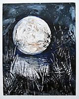 Obrazy - Mesiac bol dnes veľký - 7550461_