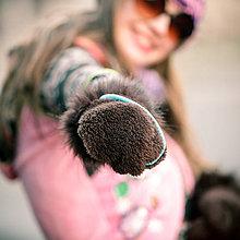 Rukavice - Origo rukavice ňuňu chlpana - 7550825_