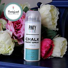 Farby-laky - Pinty Plus Chalk Paint spray Tyrkys - 7550711_