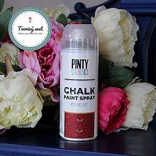 Farby-laky - Pinty Plus Chalk Paint spray Červený zamat - 7550761_