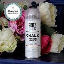 Farby-laky - Pinty Plus Chalk Paint spray Biela - 7550805_