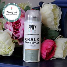 Farby-laky - Pinty Plus Chalk Paint spray Londýn zelená - 7550823_