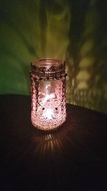 Svietidlá a sviečky - Romantický svietnik - 7550859_