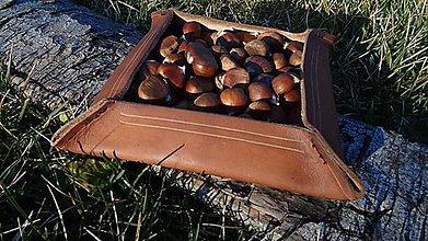 Nádoby - Kožený tanierik - 7550100_