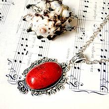 Náhrdelníky - Vintage Red Jasper & Ornaments / Výrazný náhrdelník s červeným jaspisom - 7552196_