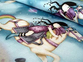 Textil - Rainbow Dreams - Girl and Horses - 7551882_