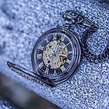 - Mechanické vreckové hodinky s krúžkovanou reťazou - 7555748_