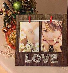 Rámiky - Fotorámik Love - 7554394_