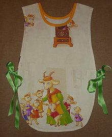 Detské oblečenie - Zásterka 7 kozliatok - 7554163_