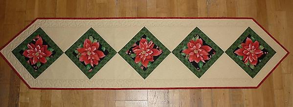 Úžitkový textil - Obrus, štóla na stôl vianočná 165x41cm - 7553390_