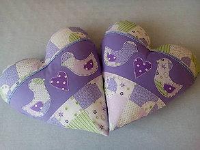 Úžitkový textil - vankúše srdiečka - 7555580_