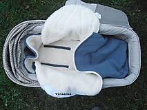 Textil - Fusak do kočíka zo 100% ovčej vlny MERINO top super wash - 7555814_
