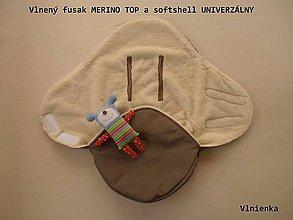 Textil - Fusak do kočíka zo 100% ovčej vlny MERINO top super wash - 7555701_